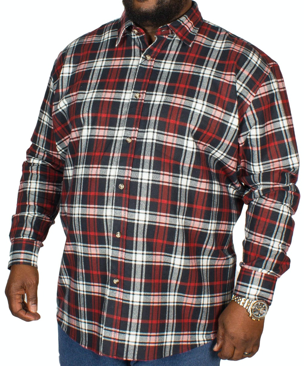 Cotton Valley Flannel Long Sleeve Shirt Red/Navy