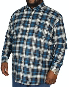 Cotton Valley Flannel Long Sleeve Shirt Blue/Black