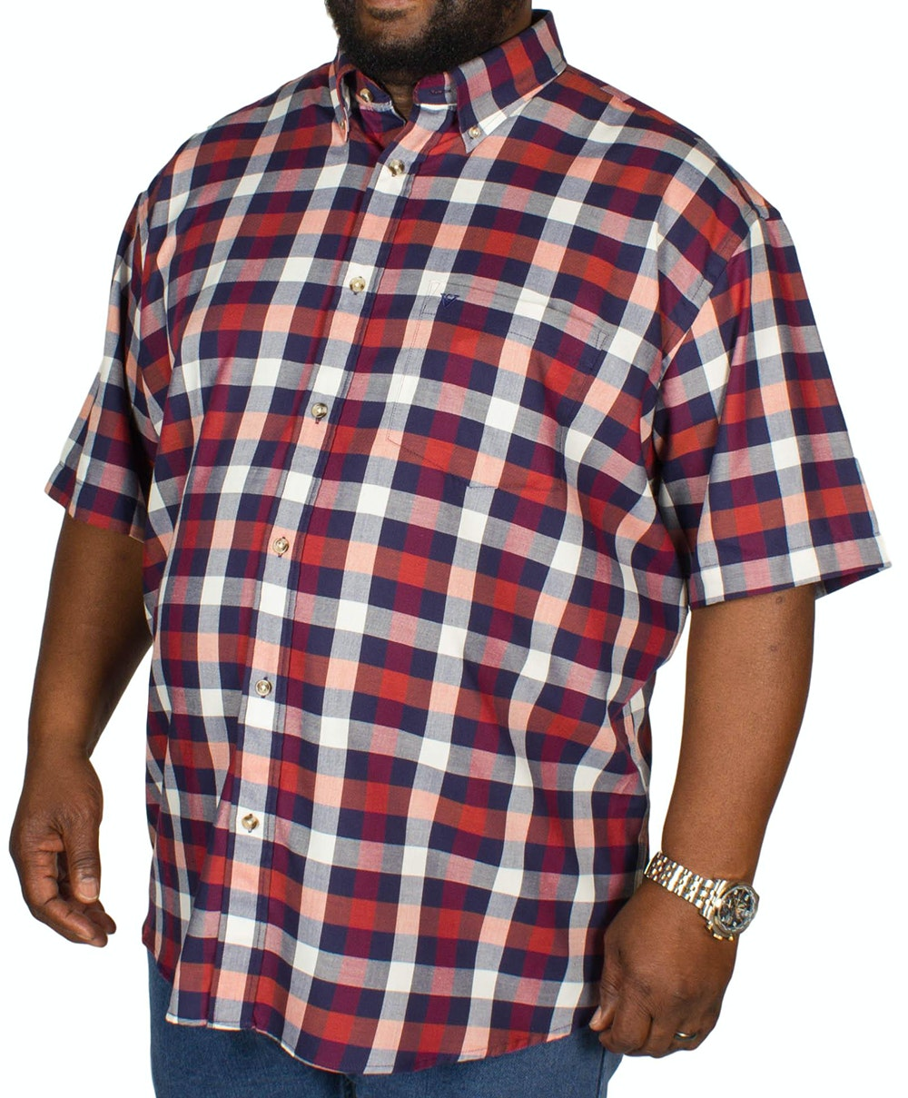 Cotton Valley Check Short Sleeve Shirt Amber/Navy