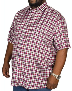 Cotton Valley Twill Check Short Sleeve Shirt Brown