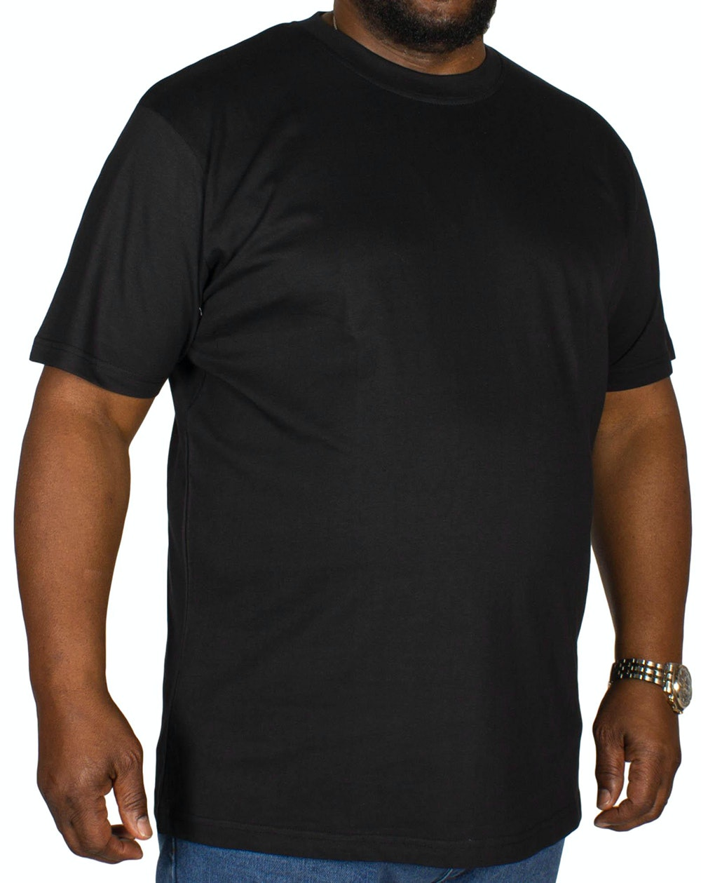 Bigdude Plain Crew Neck T-Shirt- Black