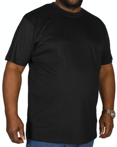5c39f3ed40b2 Bigdude Plain Crew Neck T-Shirt- Black