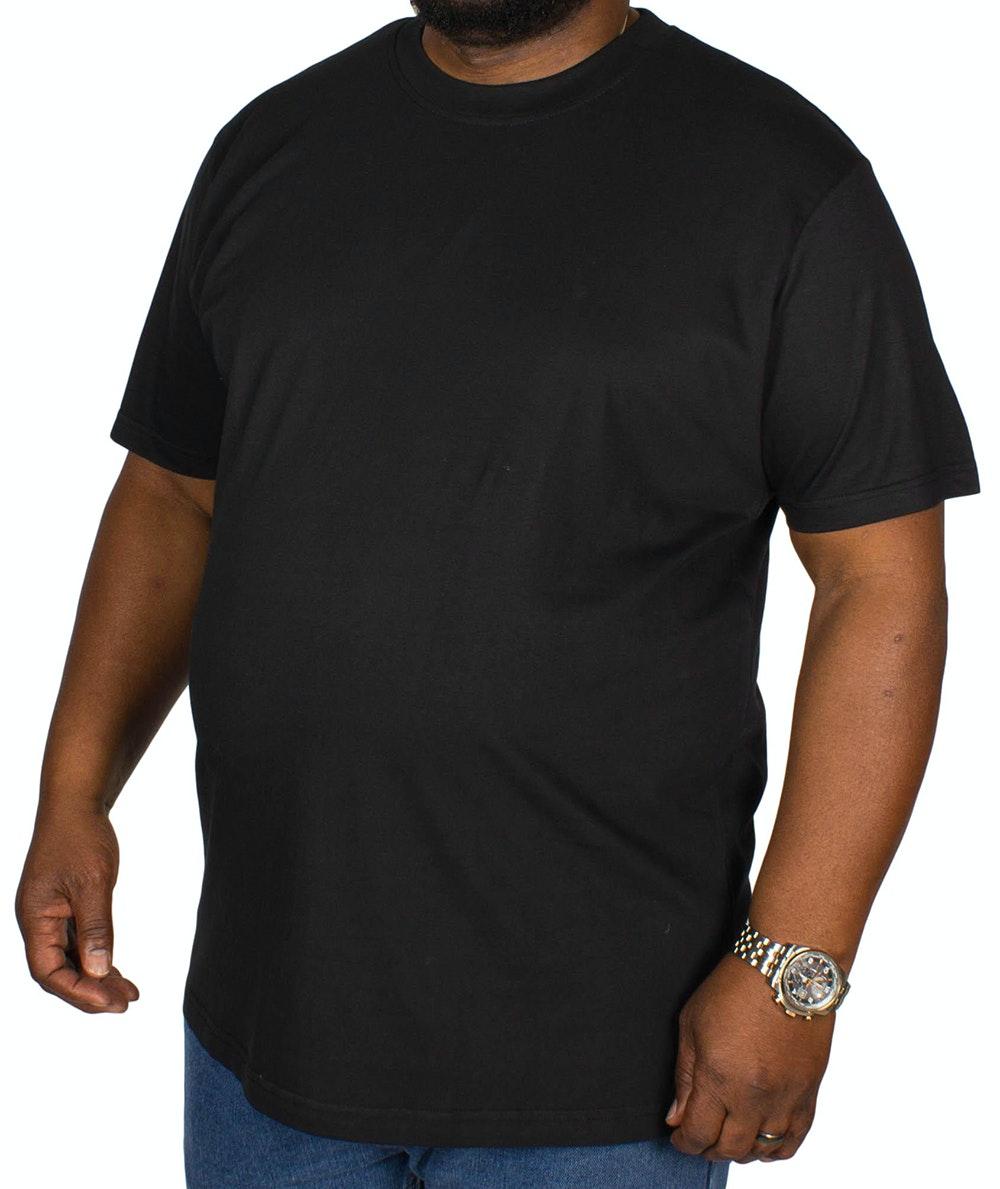 Bigdude Plain Crew Neck T-Shirt Black Tall