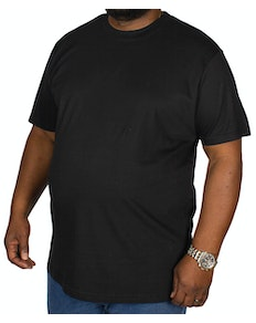 Bigdude Plain Crew Neck T-Shirt Black Tall