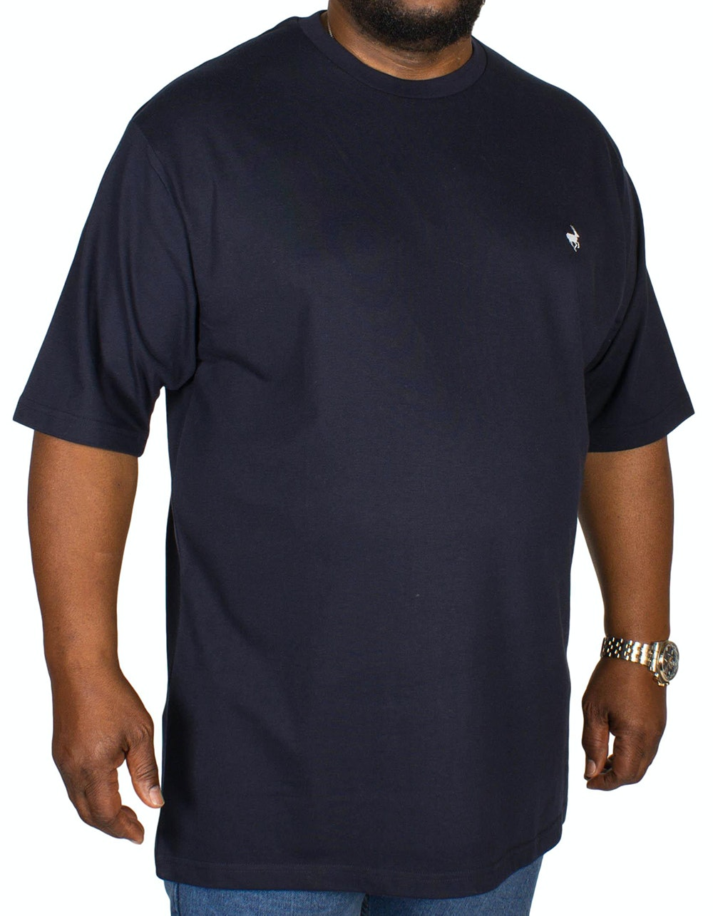 Bigdude Signature Crew Neck T-Shirt Navy