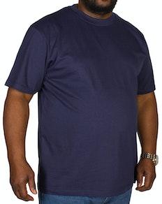 Bigdude Plain Crew Neck T-Shirt Navy Tall