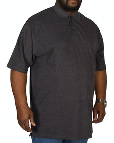Bigdude Plain Polo Shirt Charcoal Tall