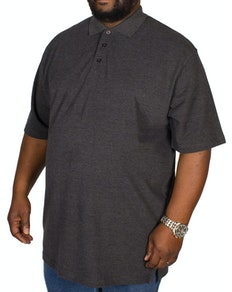 Bigdude Plain Polo Shirt- Charcoal