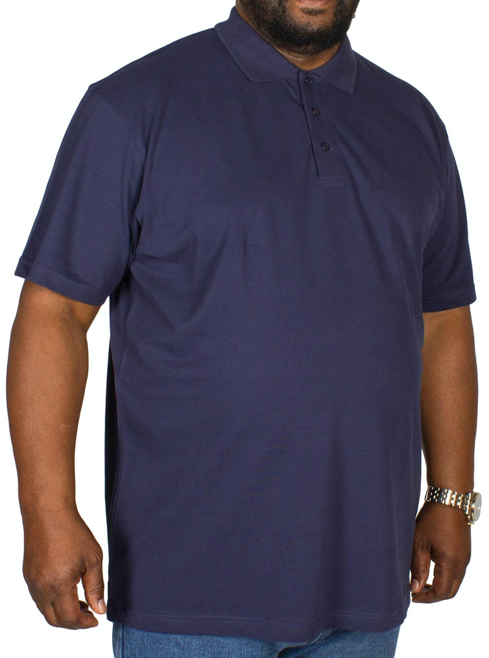 Bigdude Plain Polo Shirt- Navy
