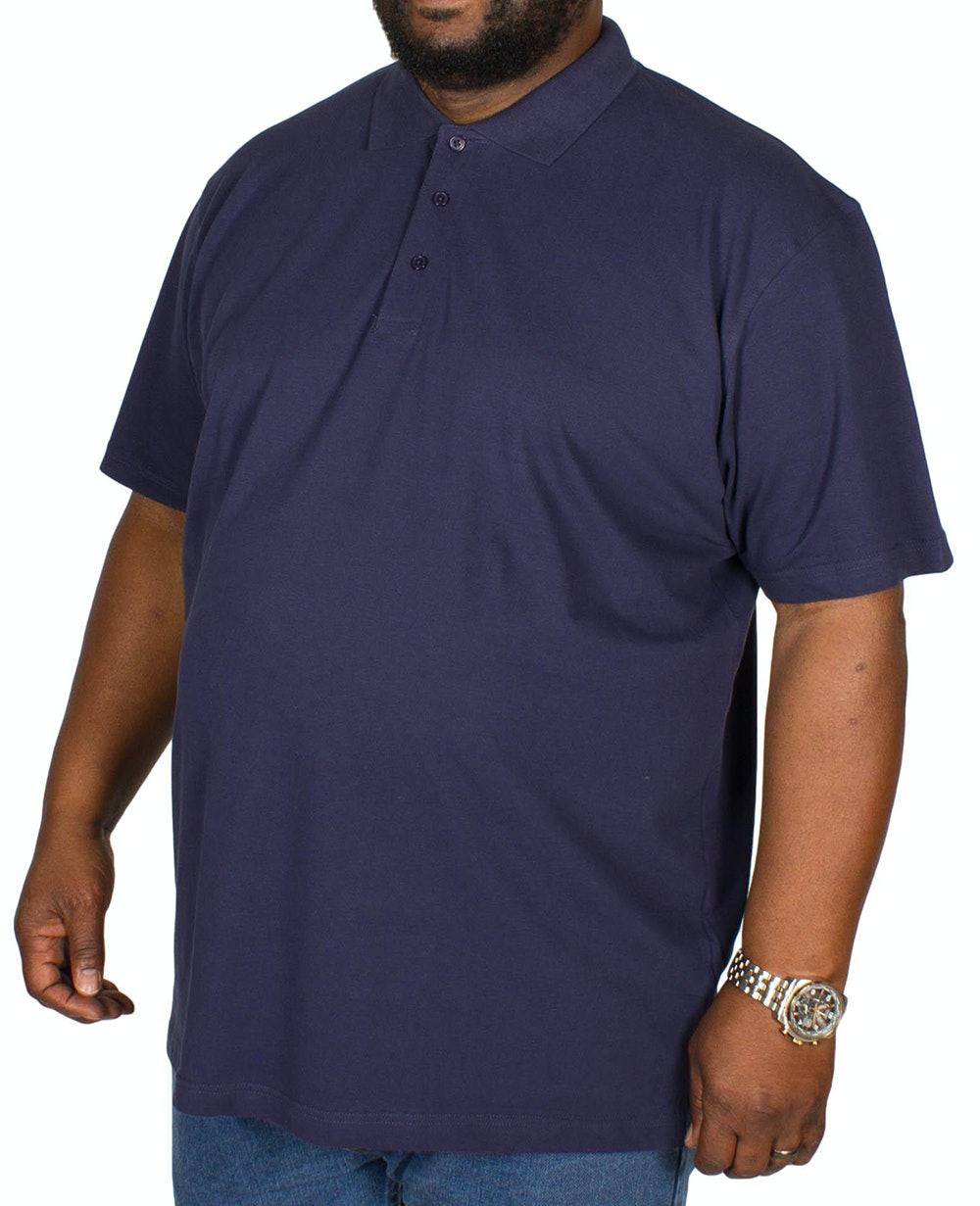 Bigdude Plain Polo Shirt Navy Tall