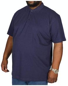 Bigdude Plain Polo Shirt Navy Tall