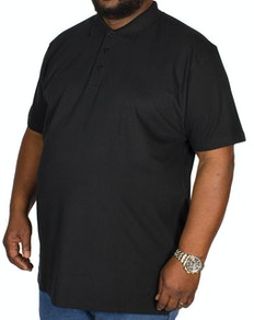 Bigdude Plain Polo Shirt Black Tall