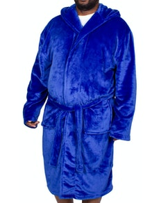 Bigdude Hooded Fleece Dressing Gown Royal Blue