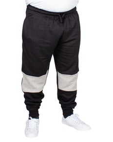KAM Chevron Stripe Joggers Charcoal