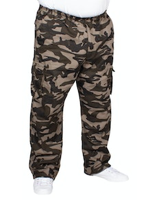 Espionage Elasticated Waist Cargo Trousers Camo