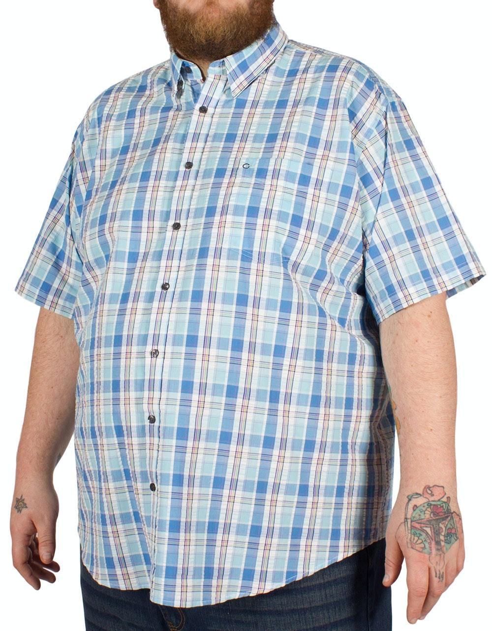 Peter Gribby Seersucker Shirt Aqua