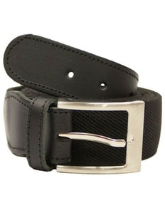 John King Warwick Elasticated Belt Black