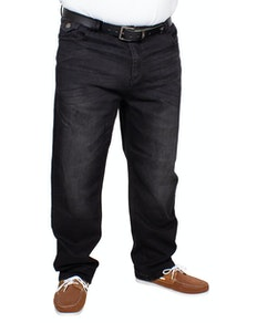 KAM Alonso Embossed Stretch Jeans Black