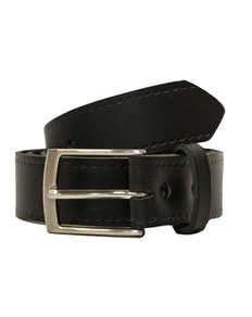 John King Bath Leather Trouser Belt Black