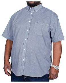 KAM Circles Dobby Short Sleeve Shirt Denim