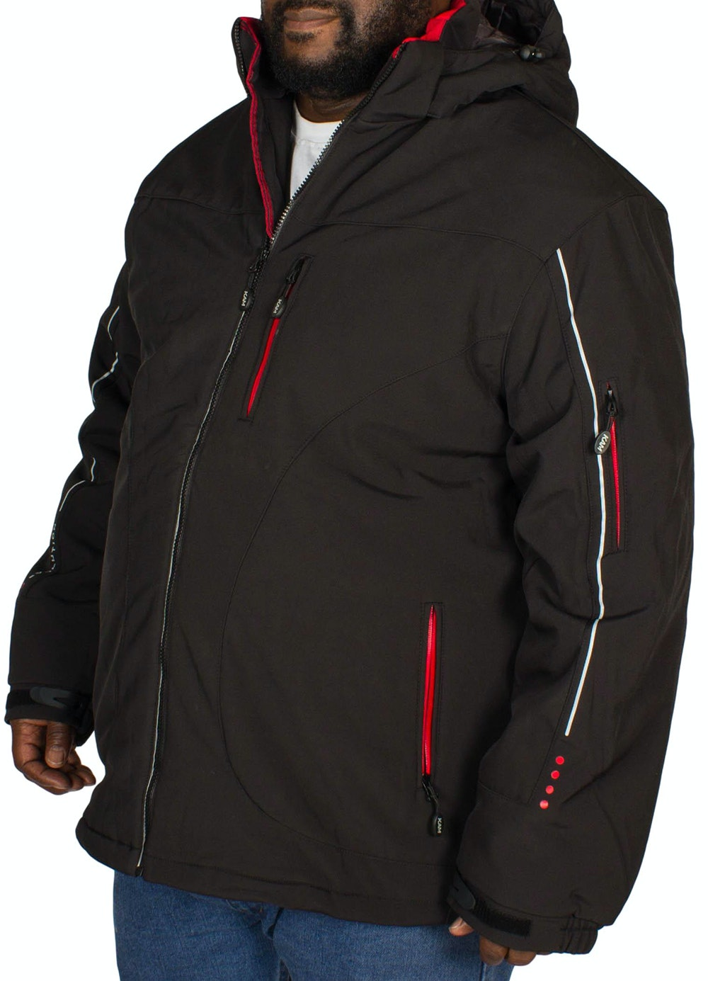 KAM Padded Soft Shell Jacket Black