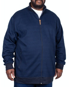 D555 Buxton Fine Stripe Full Zip Top Navy