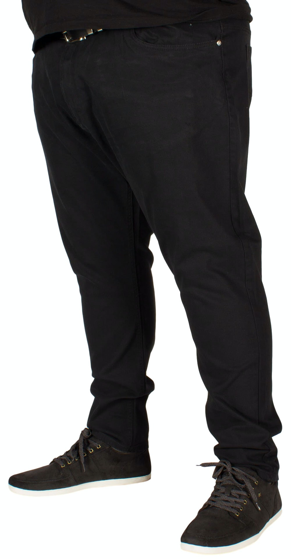 KAM Alba Stretch Chinos Black