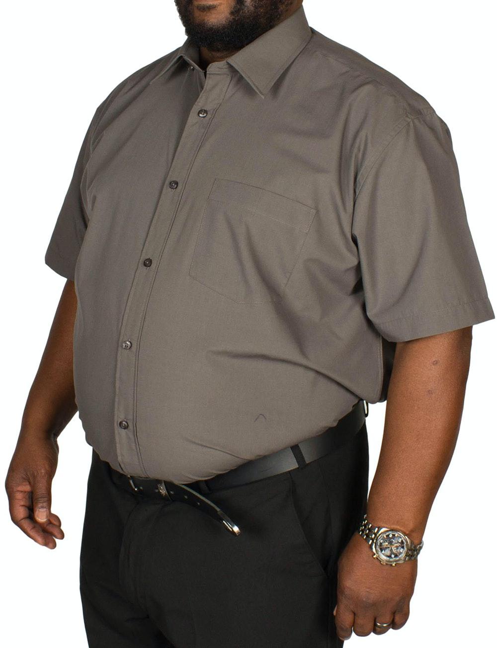 Metaphor Plain Charcoal Short Sleeve Shirt