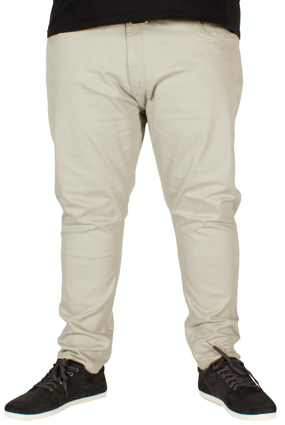 KAM Alba Stretch Chinos Stone