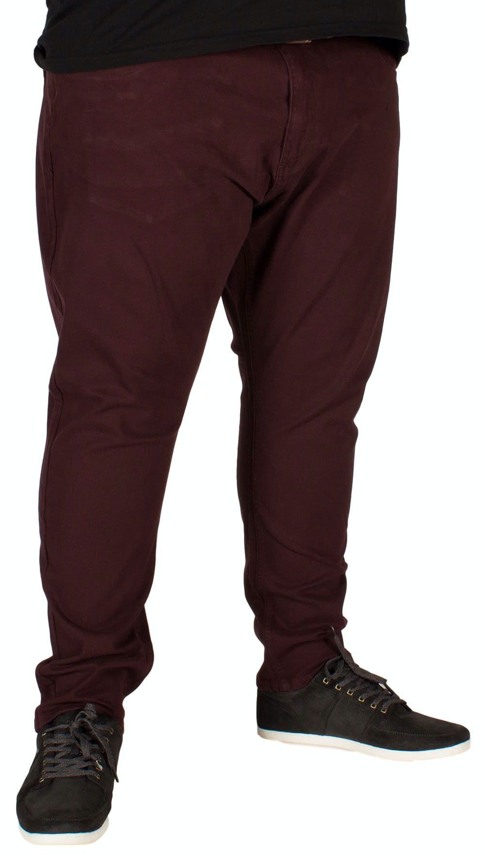 KAM Alba Stretch Chinos Burgundy