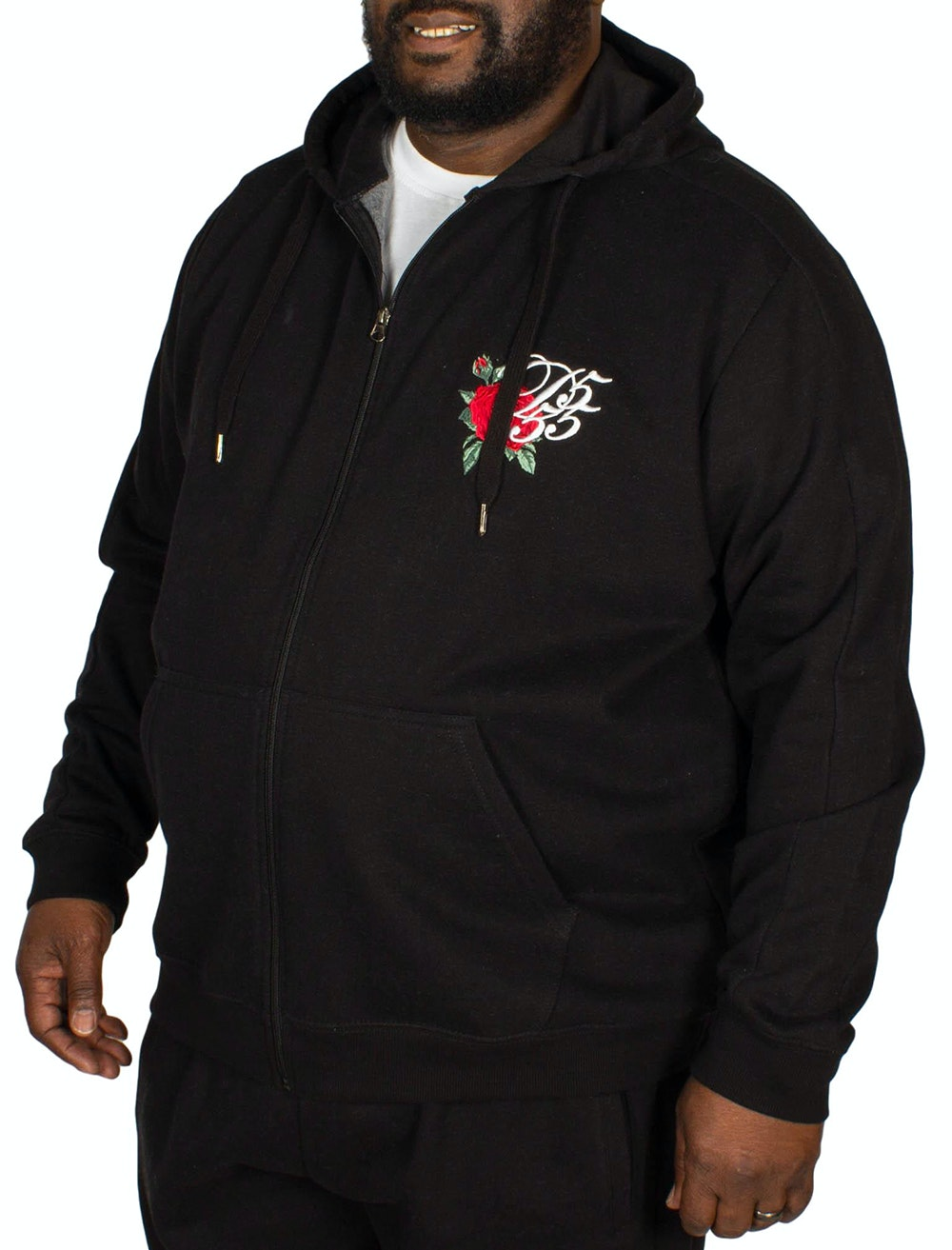 D555 Verlin Full Zip Hoody Black