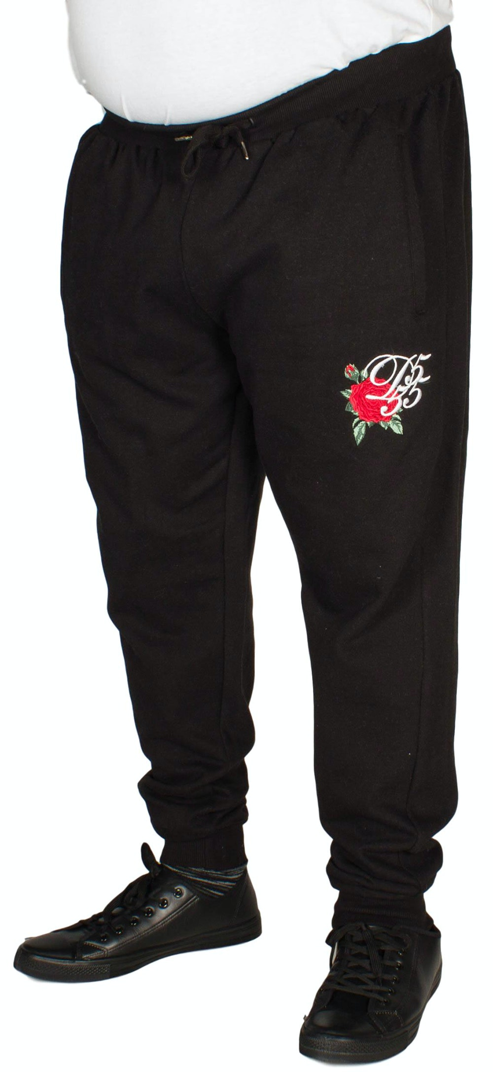 D555 Matt Embroidered Jogger Black