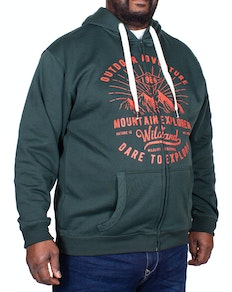 Espionage Explorer Print Hoody Forest Green