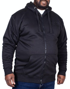 KAM Borg Sherpa Lined Zip Hoody Black