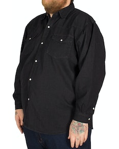 KAM Long Sleeve Denim Shirt Black