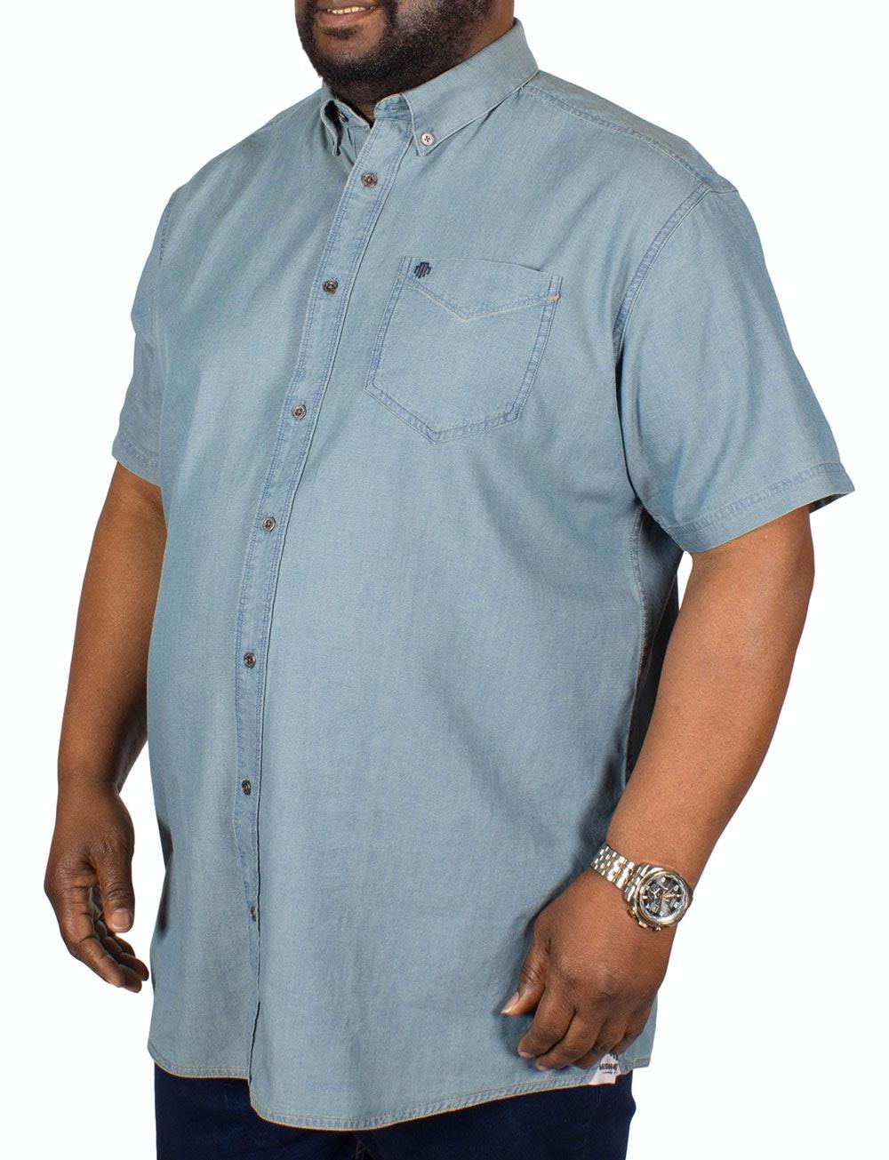 Mish Mash Denim Look Short Sleeve Shirt
