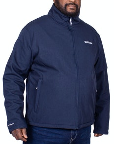 Regatta Carby Softshell Water Repellent Jacket Navy