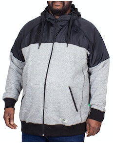 D555 Banbury Cut & Sew Panel Hoody Black