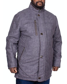 Erla of Sweden Semi Quilted Coat Charcoal