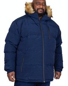 Bigdude Trailblazer Faux Fur Hooded Parka Navy