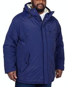 Bigdude Nantwich Sherpa Hood Parka Navy
