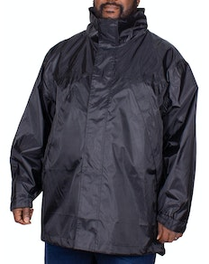 Bigdude Waterproof Packaway Rain Jacket Black