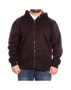 Kam Full Zip Plain Hoodie Tall Black