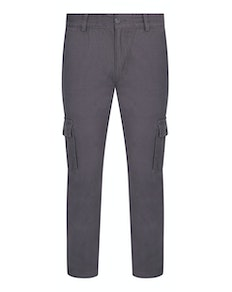 Bigdude Elasticated Waist Cargo Trousers Grey