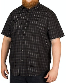 Cotton Valley Dobbie Check Shirt Black