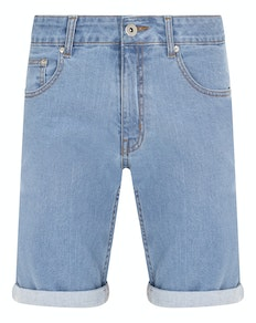 Bigdude Stretch Denim Shorts Light Wash