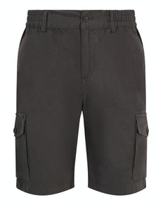 Bigdude Elasticated Waist Cargo Shorts Charcoal