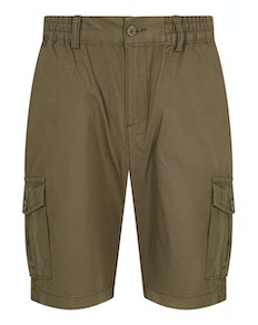 Bigdude Elasticated Waist Cargo Shorts Khaki