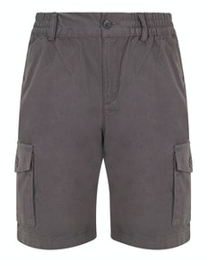 Bigdude Elasticated Waist Cargo Shorts Grey
