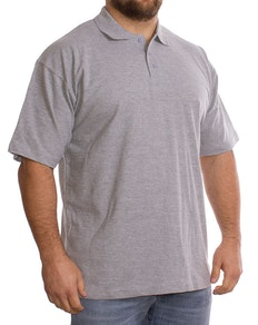 Grey Plain Polo Shirt